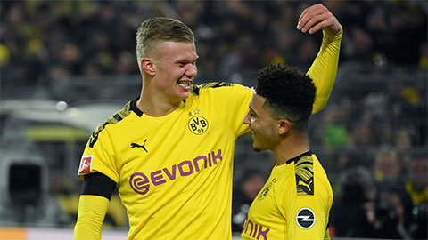 Haaland, Sancho cùng lập kỷ lục ở trận đại thắng của Dortmund trước Frankfurt