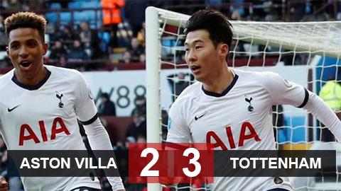 Aston Villa 2-3 Tottenham: Vị cứu tinh Son Heung-min