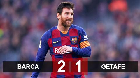 Barca 2-1 Getafe: Messi tịt ngòi trận thứ 4 liên tiếp, Barca vẫn phả hơi nóng vào Real