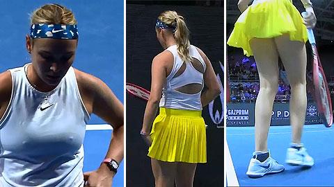 Người đẹp từng hạ Sharapova ở Melbourne Park bị lộ điểm nhạy cảm