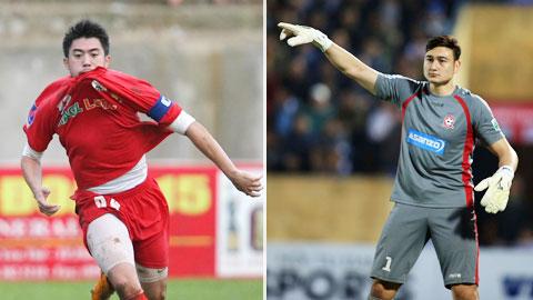 Văn Lâm và Lee Nguyễn (trái) là những cầu thủ Việt kiều hiếm hoi thi đấu thành công tại V.League Ảnh: ĐỨC CƯỜNG