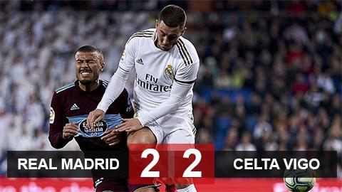 Kết quả Real 2-2 Celta Vigo: Los Blancos đứt mạch toàn thắng