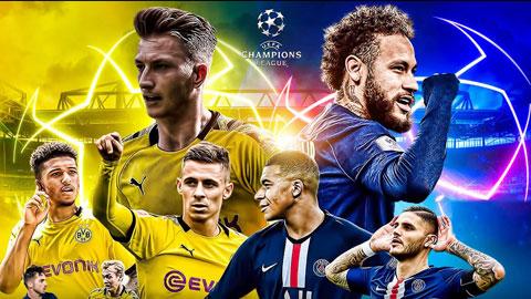 PSG (áo sẫm) với nhưng siêu sao giàu kinh nghiệm như Neymar, Icardi, Mbappe… đủ sức đánh bại Dortmund ngay trên đất Đức