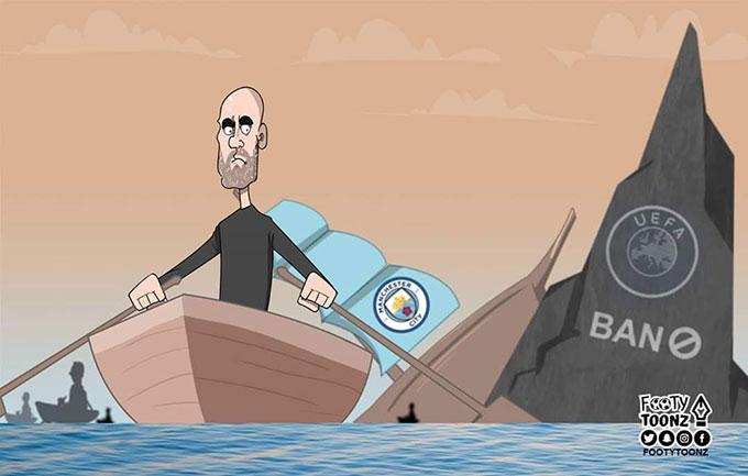 Bị UEFA cấm đá Champions League hai mùa, Pep Guardiola sắp rời đảo hoang Man City
