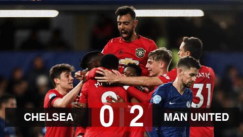 Kết quả Chelsea 0-2 M.U: Hai lần bị VAR từ chối, Chelsea thua trận thứ 3 liên tiếp trước M.U