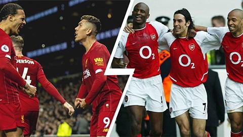 Liverpool hiện giờ chưa sánh được với 'Arsenal bất bại' 2004