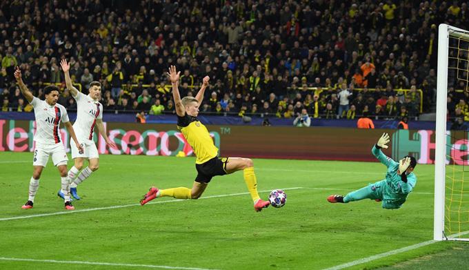 Haaland mở tỷ số cho Dortmund ở phút 69