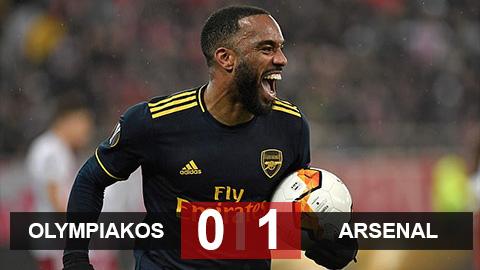 """Olympiakos 0-1 Arsenal: Thiếu """"ngòi nổ"""" Oezil, Pháo thủ vẫn ca khúc khải hoàn"""