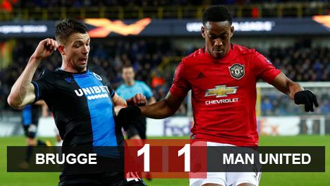 Club Brugge 1-1 M.U: Quỷ đỏ may mắn giành được trận hòa