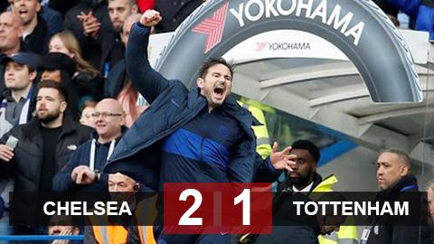 Chelsea 2-1 Tottenham: Lampard giành chiến thắng lịch sử trước Mourinho, Chelsea chắc chân trong top 4