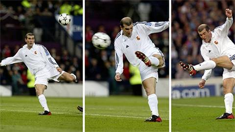 Bàn thắng từ cú vô lê kinh điển của Zidane trong trận chung kết Champions League 2002