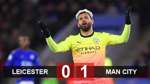 Kết quả Leicester 0-1 Man City: Kép phụ tỏa sáng
