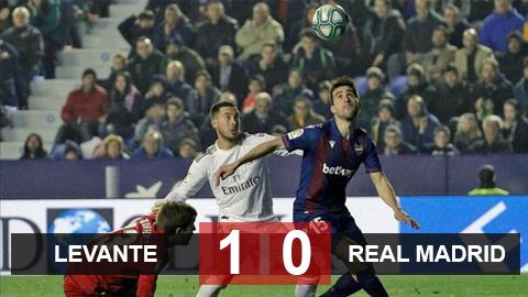 Levante 0-1 Real Madrid: Kền kền trắng mất ngôi đầu vào tay Barca trước Siêu kinh điển