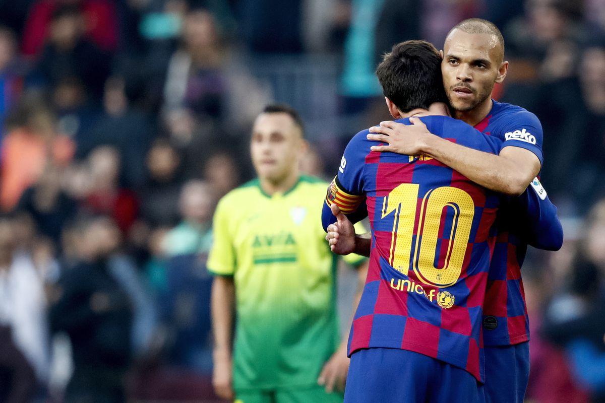 Tân binh Braithwaite đã có quà dâng lên thủ lĩnh Messi