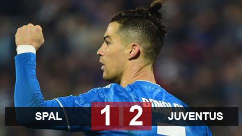 SPAL 1-2 Juventus: Ronaldo lập kỷ lục ghi bàn, Juventus vững ngôi đầu Serie A