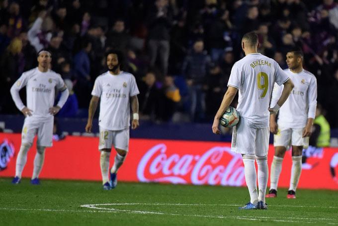 Real đánh mất 5 điểm chỉ trong 2 vòng đấu gần nhất tại La Liga