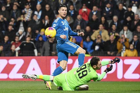 Ronaldo ghi tới 16 bàn thắng trong 11 trận liên tiếp tại Serie A