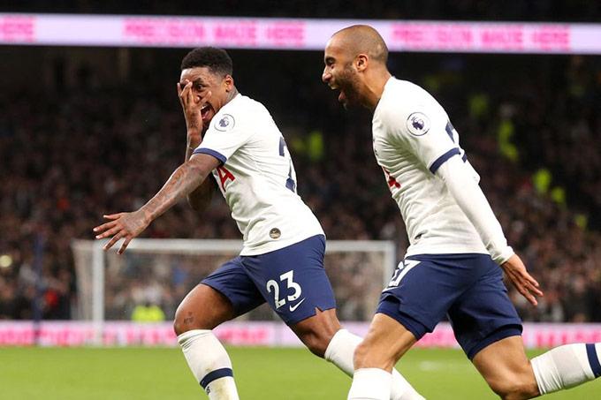 Tottenham có thể đá sơ đồ 4-4-2 với cặp Moura vs Bergwijn