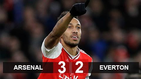 Kết quả Arsenal 3-2 Everton: Aubameyang lập cú đúp, Pháo thủ chiến thắng sau màn rượt đuổi nghẹt thở - xs thứ sáu