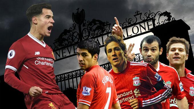 Rất nhiều ngôi sao từng chỉ coi Liverpool là bệ phóng trước khi đến với các ông lớn khác