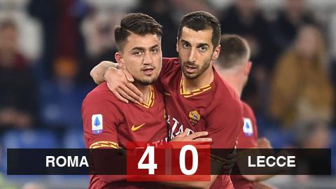 Roma 4-0 Lecce: Mkhitaryan tỏa sáng rực rỡ, Roma đứt mạch 3 trận thua liên tiếp