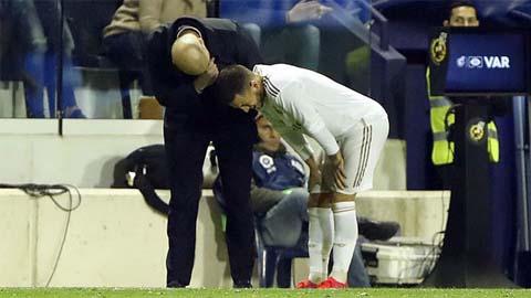 Zidane quan ngại về chấn thương vỡ mắt cá chân của Hazard