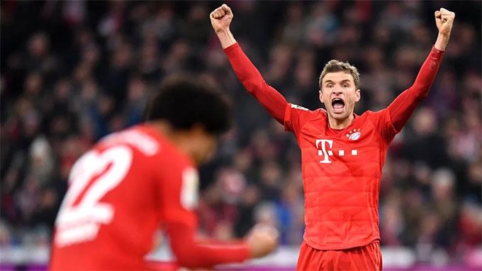 Mueller đã có 14 đường chuyền thành bàn ở Bundesliga mùa này
