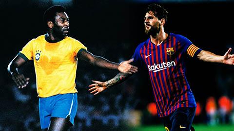"""Messi cần thêm 17 bàn thắng nữa để cân bằng thành tích với """"Vua bóng đá"""" Pele"""