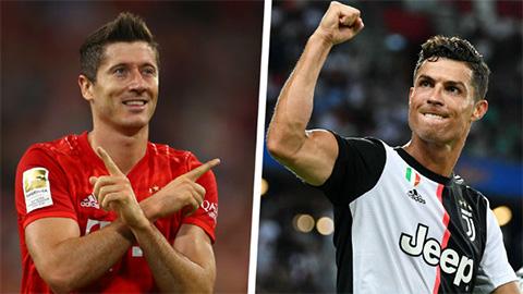 Chọc thủng lưới Chelsea, Lewandowski sánh ngang Ronaldo ở Champions League