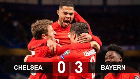 Kết quả Chelsea 0-3 Bayern: Gnabry và Lewandowski đánh sập Stamford Bridge