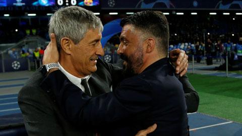 Hòa Barca, Gattuso được so sánh với Mourinho
