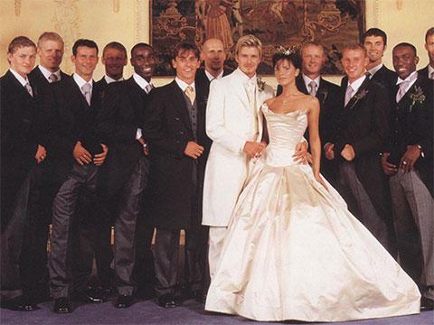 Dàn cầu thủ Man United trong đám cưới của Beckham
