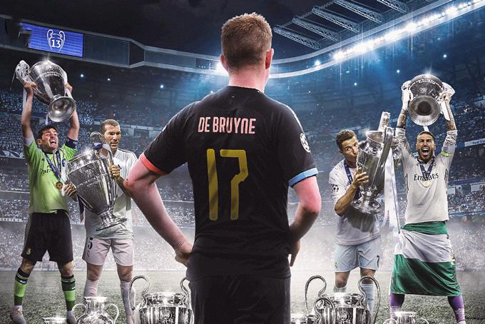 De Bruyne là điểm tựa gần như duy nhất để Man City trông vào trước màn đối đầu với một Real hùng mạnh