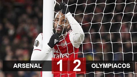 Arsenal 1-2 Olympiacos: Địa chấn tại Emirates, Arsenal bị loại sau 120 phút kịch chiến
