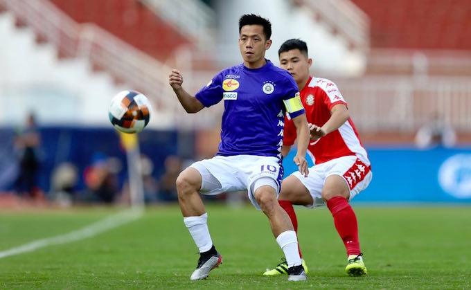 Hà Nội FC đã có sự thể hiện vượt trội so với CLB TP.HCM. Ảnh: Quốc An