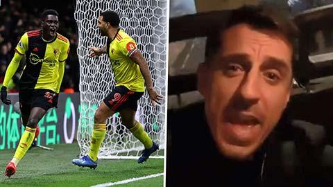 Gary Neville dẫn đầu nhóm anti fan hả hê troll Liverpool sau thảm bại trước Watford