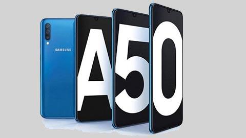 Samsung Galaxy A50 với Exynos 9610, pin 4000mAh, camera 25MP giảm giá siêu hấp dẫn tại VN