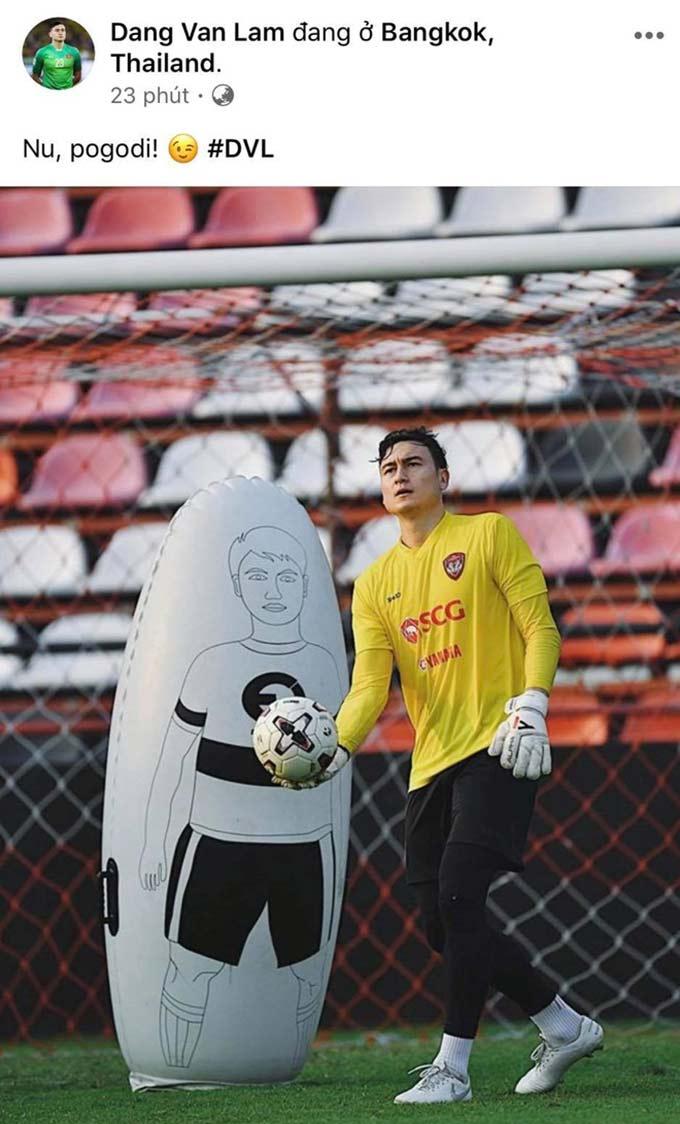 Văn Lâm đưa ra thông điệp sau khi không còn là thủ môn số 1 ở Muangthong United