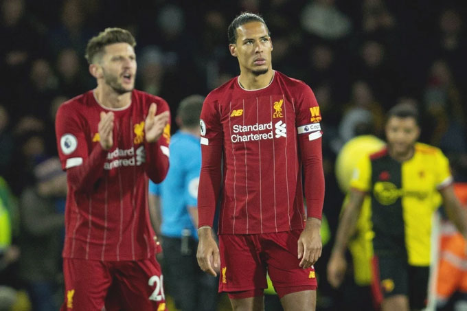 Liverpool đã bại dưới tay Watford
