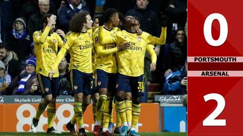 Portsmouth 0-2 Arsenal: Đoàn quân của HLV Mikel Arteta đi tiếp ở FA Cup