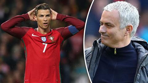 Mourinho được dự đoán sắp làm thầy của Ronaldo tại ĐT Bồ Đào Nha