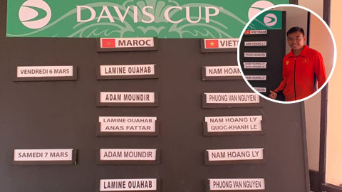 Lý Hoàng Nam lĩnh ấn tiên phong ở vòng play-offs Davis Cup 2020