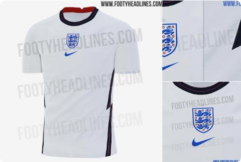 Mẫu áo sân nhà của ĐT Anh lại được đánh giá khá cao