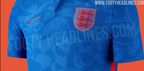 Áo đấu sân khách của ĐT Anh sẽ có màu xanh hoàng gia là chủ đạo