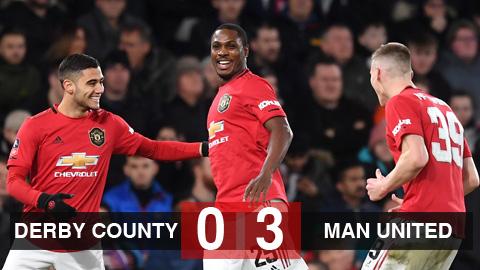 Derby County 0-3 M.U: Ighalo lập cú đúp, M.U đại thắng đội bóng của Rooney