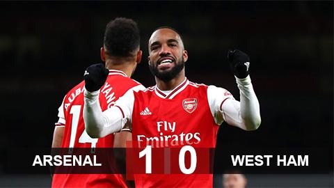 Arsenal 1-0 West Ham: VAR giúp Pháo thủ đút túi 3 điểm
