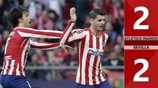 Atletico Madrid 2-2 Sevilla(Vòng 27 La Liga 2019/20)