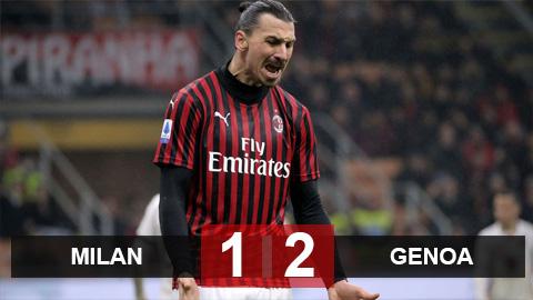 Milan 1-2 Genoa: Ibra tỏa sáng vẫn không thể giúp Milan thoát thua