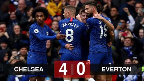 Kết quả Chelsea 4-0 Everton: Thăng hoa trên sân nhà, Chelsea giữ chắc vị trí thứ 4