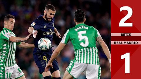 Betis 2-1 Real Madrid(Vòng 27 La Liga 2019/20)